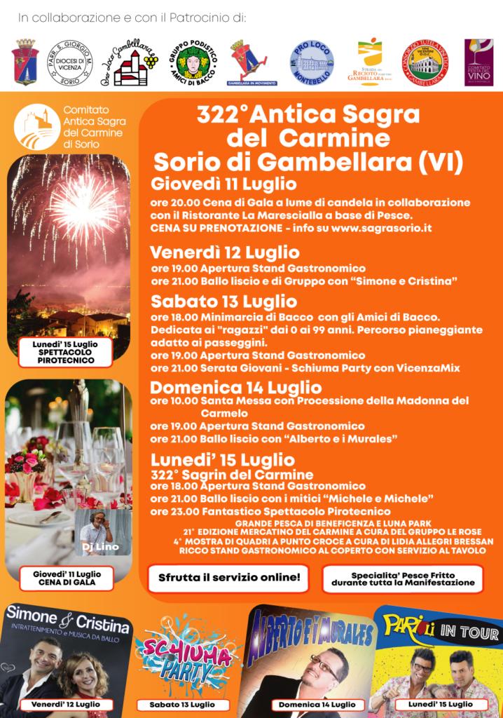 Programma Sagra Sorio 2019